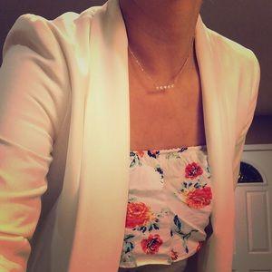 White 80s inspired blazer